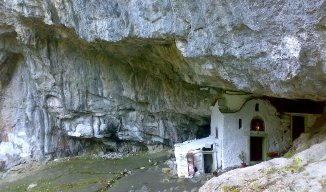 chapel in the Holy Cave of Agios Dionysios - Mount Olympus