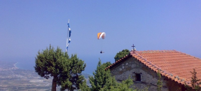 paragliding at Little Church