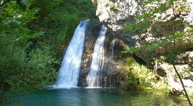 waterfall in Enipeas Gorge - Mount Olympus