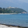Beach of Platamonas - view to the castle